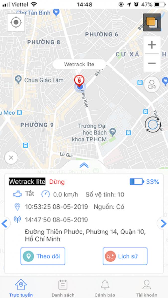 app xem định vị t-track pro